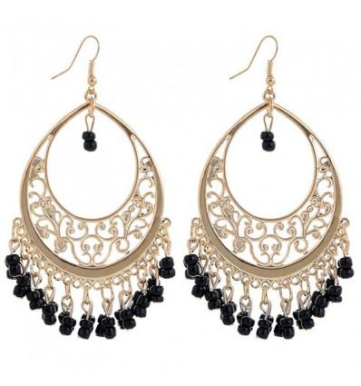 Boucles d'oreilles chandelier, noir