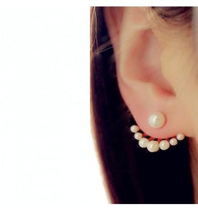 Boucles d'oreilles perles multiples