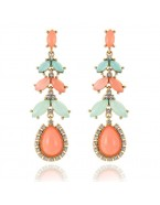 Boucles d'oreilles pendantes, orange