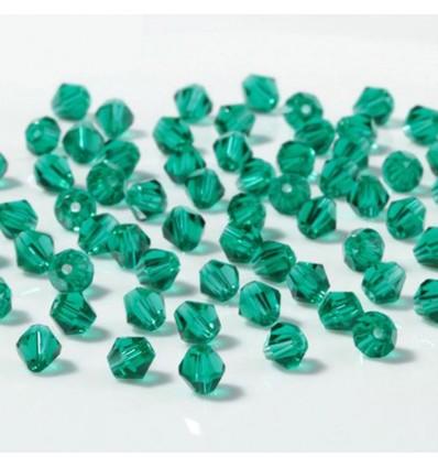 Perles à facettes 4 mm, vert x50