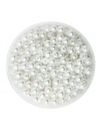 Perles blanches 4mm, x100
