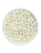 Perles 4mm, blanc cassé x100