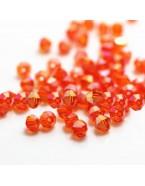 Perles à facettes 4 mm, orange avec reflets x50