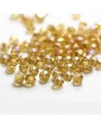 Perles à facettes 4 mm, champagne avec reflets x50