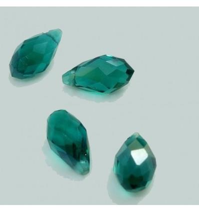 Perles à facettes ovales, vert x10