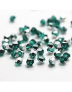 Perles à facettes 4 mm, vert avec reflets x50