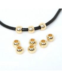 Perles dorées 4mm