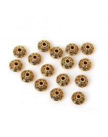 Perles dorées en métal x 10