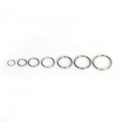 Anneaux de jonction bijoux argenté, d 0.5 mm x50