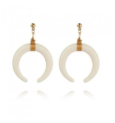 Boucles d'oreilles cornes, blanc