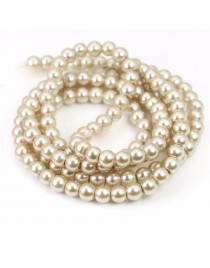 Perles 6 mm x40, champagne