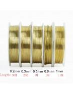 Fil en laiton pour bijoux doré 0.8 mm, x1