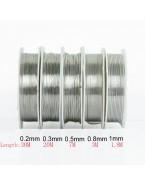 Fil en laiton pour bijoux argenté 0.5 mm, x1