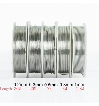 Fil en laiton pour bijoux argenté 0.8 mm, x1