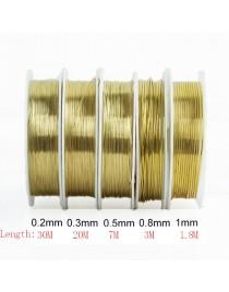 Fil en laiton pour bijoux doré 0.5 mm, x1