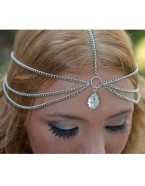 Headband diamant strass, argenté