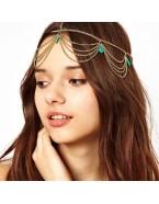 Headband style bohème, doré