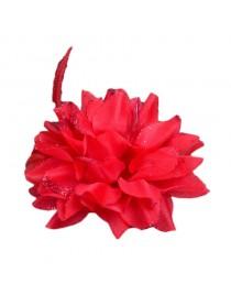 Bijoux de tête fleur rouge