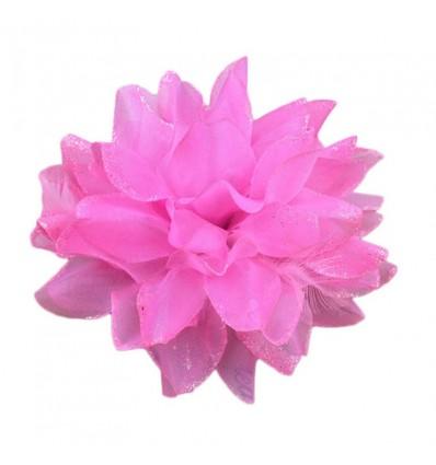 Bijoux de tête fleur rose