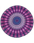 Serviette mandala, violet