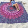 Serviette de plage mandala carré
