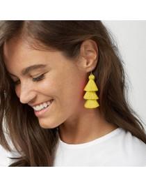 Boucles d'oreilles pompons jaune