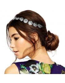 Headband pièces argentées