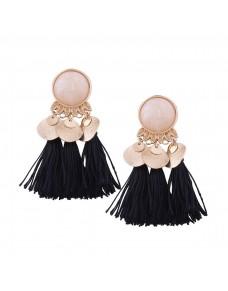 Boucles d'oreilles pendantes pompons
