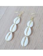 Boucles d'oreilles pendantes coquillages