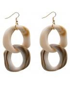 Boucles d'oreilles écailles, beige
