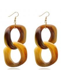 Boucles d'oreilles pendantes chaîne, marron