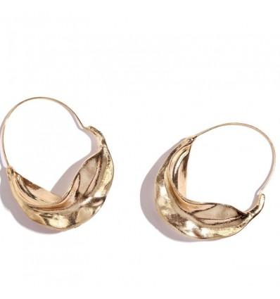 Boucles d'oreilles créoles dorées or