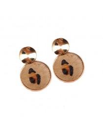 Boucles d'oreilles léopard, marron