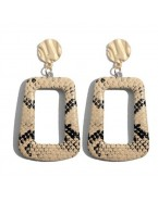Boucles d'oreilles rectangle python