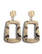 Boucles d'oreilles rectangle python