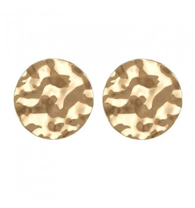 Boucles d'oreilles rondes dorées