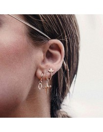 Lot de 3 boucles d'oreilles créoles, doré