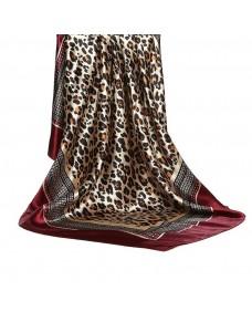 Foulard imprimé léopard, marron/beige