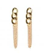 Boucles d'oreilles chaînes, doré
