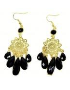 Boucles d'oreilles chandelier, doré