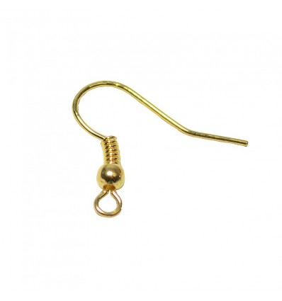 Crochet boucle d'oreille doré