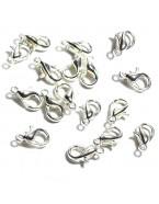 Fermoir bracelet et collier, argent - x10