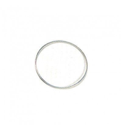 Breloque charms rond simple argent