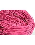 Fil bijoux en coton ciré, rose fuchsia - 5m
