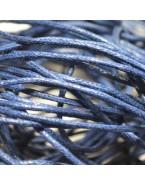 Fil bijoux en coton ciré, bleu marine - 5 m