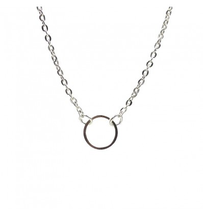 Collier anneau cercle argent