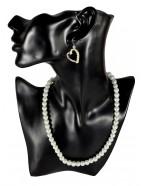 Parure mariée coeur avec perles blanches