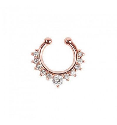 Piercing nez septum strass rose gold