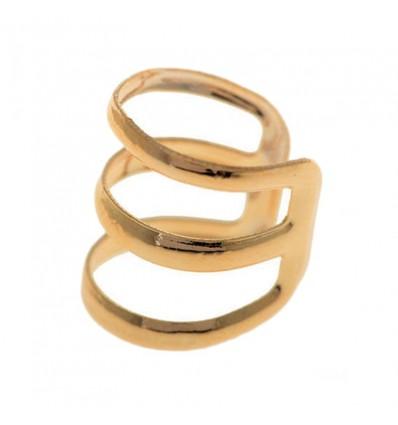 Faux piercing arcade 3 anneaux doré