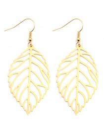 Boucles d'oreilles feuille légère dorée